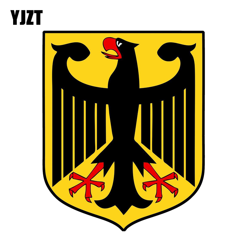 YJZT 8.2CM*10CM German Coat Of Arms Car Sticker PVC Creative Decal 12-1386
