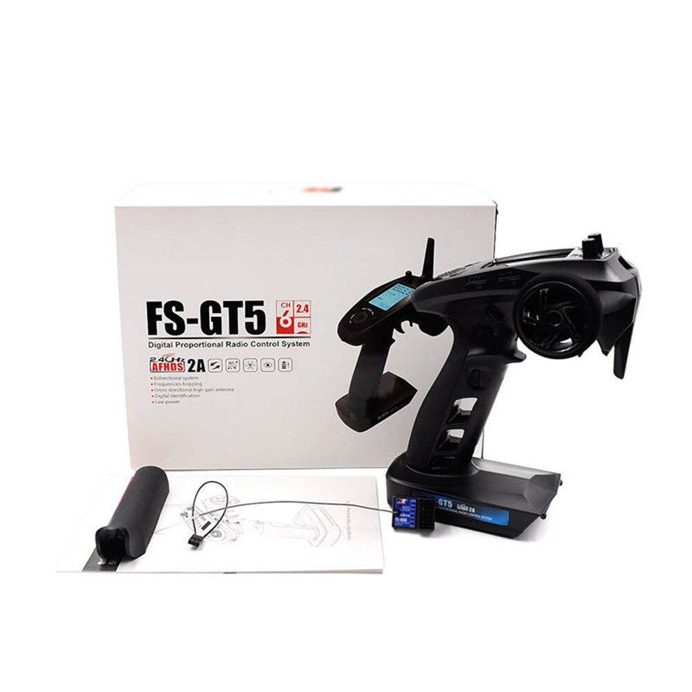 Per Flysky GT5 2.4G 6CH Trasmettitore Gyro con BS6 Ricevitore Fail-Safe FS-GT5 Controller per RC Auto Barca AA/2 S Doppia Batteria PortePer Flysky GT5 2.4G 6CH Trasmettitore Gyro con BS6 Ricevitore Fail-Safe FS-GT5 Controller per RC Auto Barca AA/2 S Doppia Batteria Porte