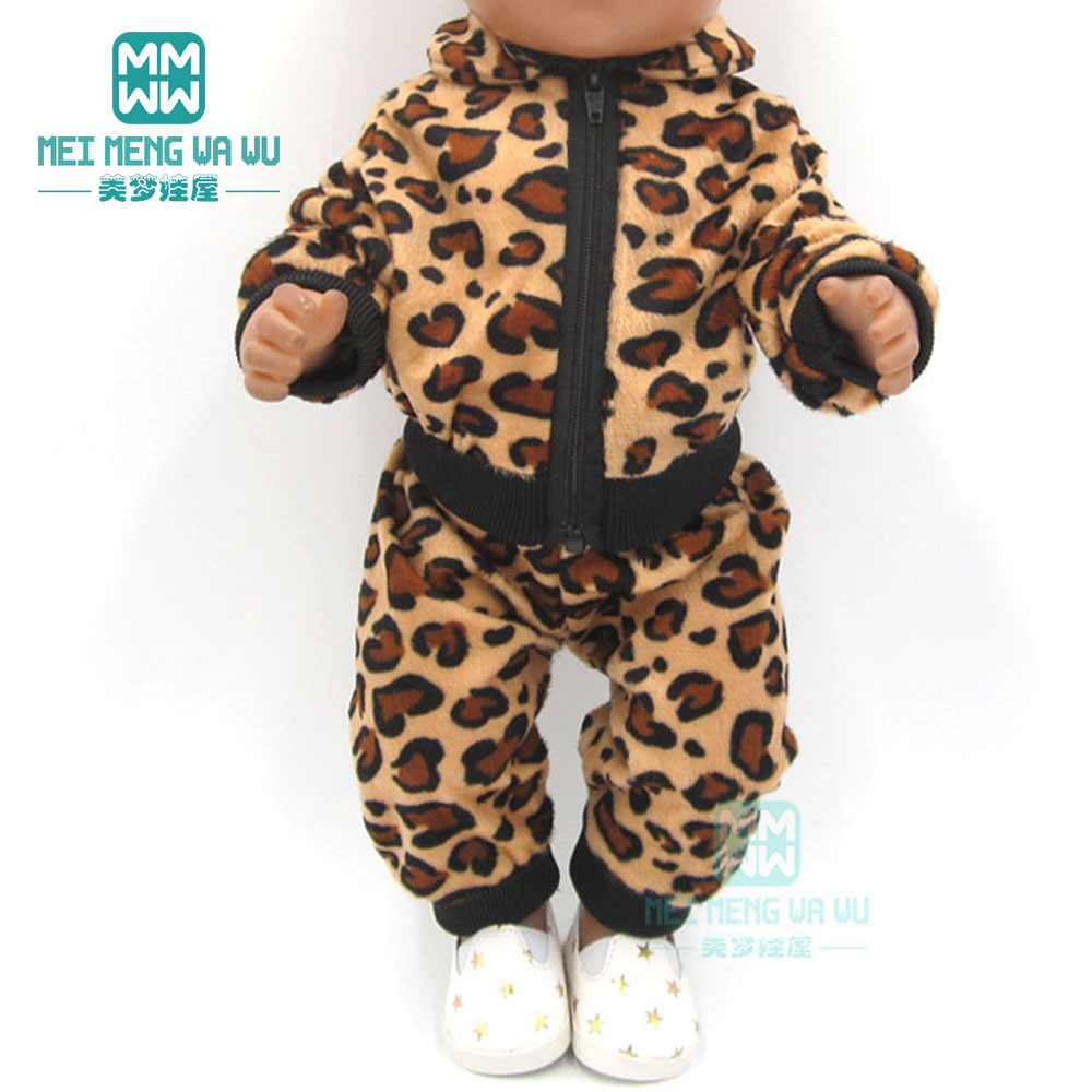 Dolls clothes for 43cm new born doll and American doll Tiger Jackets and Pants Suit baby Suit-in Dolls Accessories from Toys & Hobbies