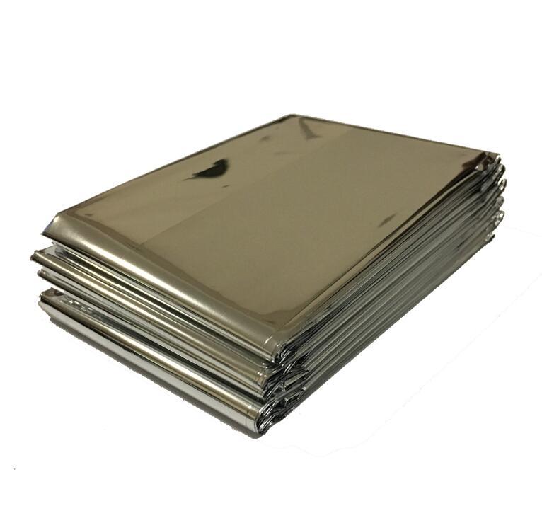 210*130 см 1 шт Серебряный альпинистский набор для выживания на открытом воздухе спасательное оборудование аварийный инструмент для выживания охотничье аварийное одеяло - Цвет: Серебристый