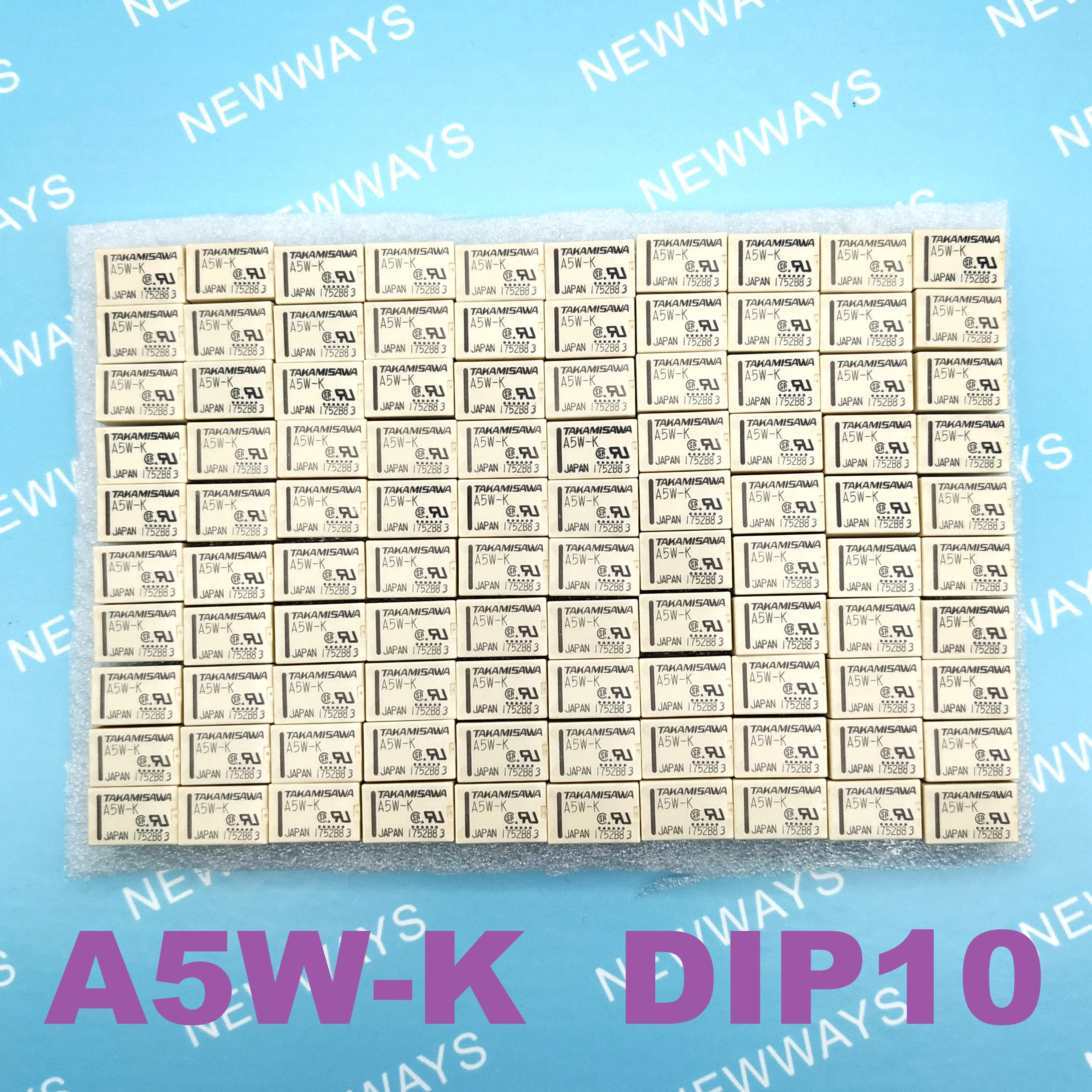 100PCS LOT Relay A5W K DIP10 Electromechanical Relay DPDT 2A 5VDC 178Ohm Through Hole New and