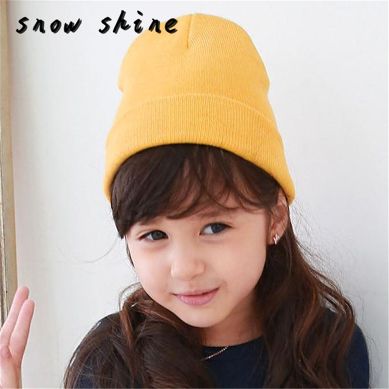 24ddfb010 US $1.75 14% OFF|snowshine YLW Baby Beanie Boy Girls Soft Hat Children  Winter Warm Kids Knitted Cap free shiping-in Hats & Caps from Mother & Kids  on ...