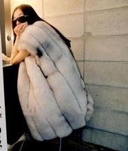 Подлинная фокс шуба зиму полная кожа мех лисы жилет женщин роскошный лисий мех куртка плюс размер бесплатная доставка H197