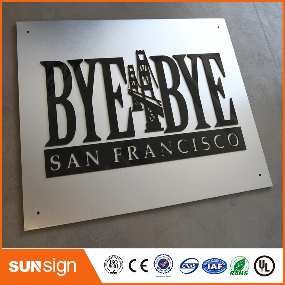 Custom 3mm Black Acrylic Cutting Letter Signage