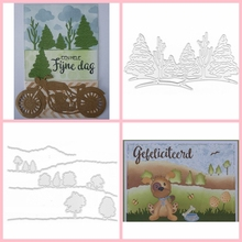 Forests DIY Cutting Die Craft Scrapbooking Embossing Stencil Template Decoration Handmade Paper Card Album Making birthday polish letter diy metal cutting die handmade decoration paper card album making scrapbooking template embossing craft