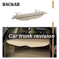Backar 1set For Ford i MAX Car Rear Trunk Cargo Cover Car styling Black Security Shield Shade Auto Accessories