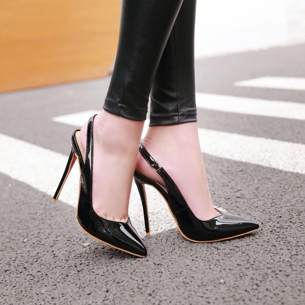 Alionashoo Gladiator Women Pumps Ladies Sexy Buckle Strap Roman High Heels Open Heel Sandals Party Wedding Shoes Plus Size 34-48