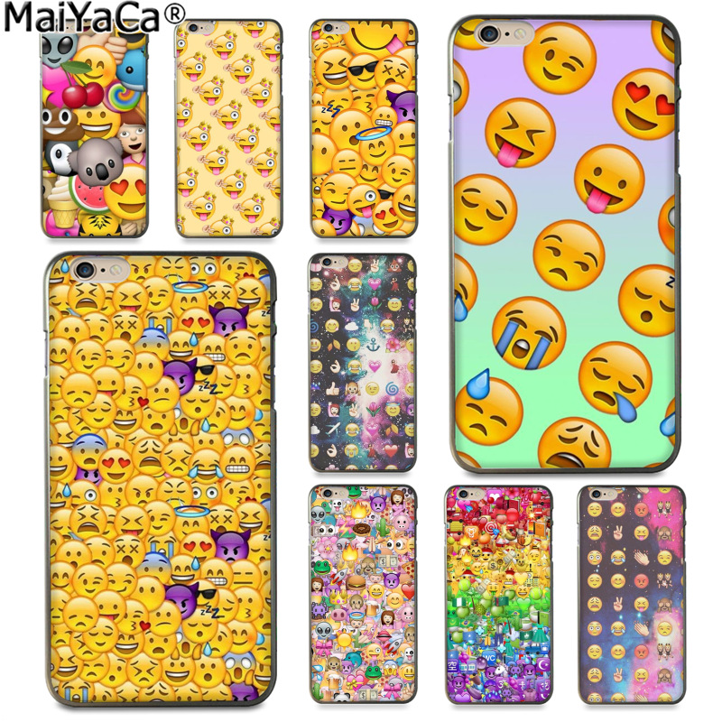 MaiYaCa Funny expression face Luxury fashion cell phone case for Apple iPhone 8 7 6 6S Plus X 5 5S SE 5C Cover