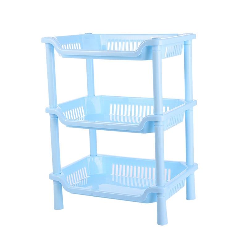 Nieuwe 3 lagen keuken plank Plastic PP opvouwbare opslag rekken - Home opslag en organisatie