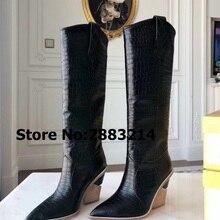 c0debbaf7 Vente en Gros black crocodile boots Galerie - Achetez à des Lots à ...