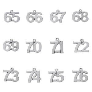 Skyrim 20pcs Zinc Alloy Metal Number Charms Sliver Pendants Jewelry Making 65 66 67 68 69 70 71 72 73 74 75 76