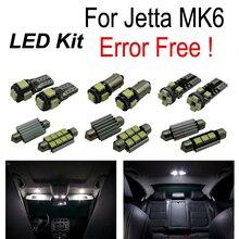 17pc X Error Free for Volkswagen VW for Jetta 6 MK6 LED interior light reverse light parking city bulb kit package (2011+)