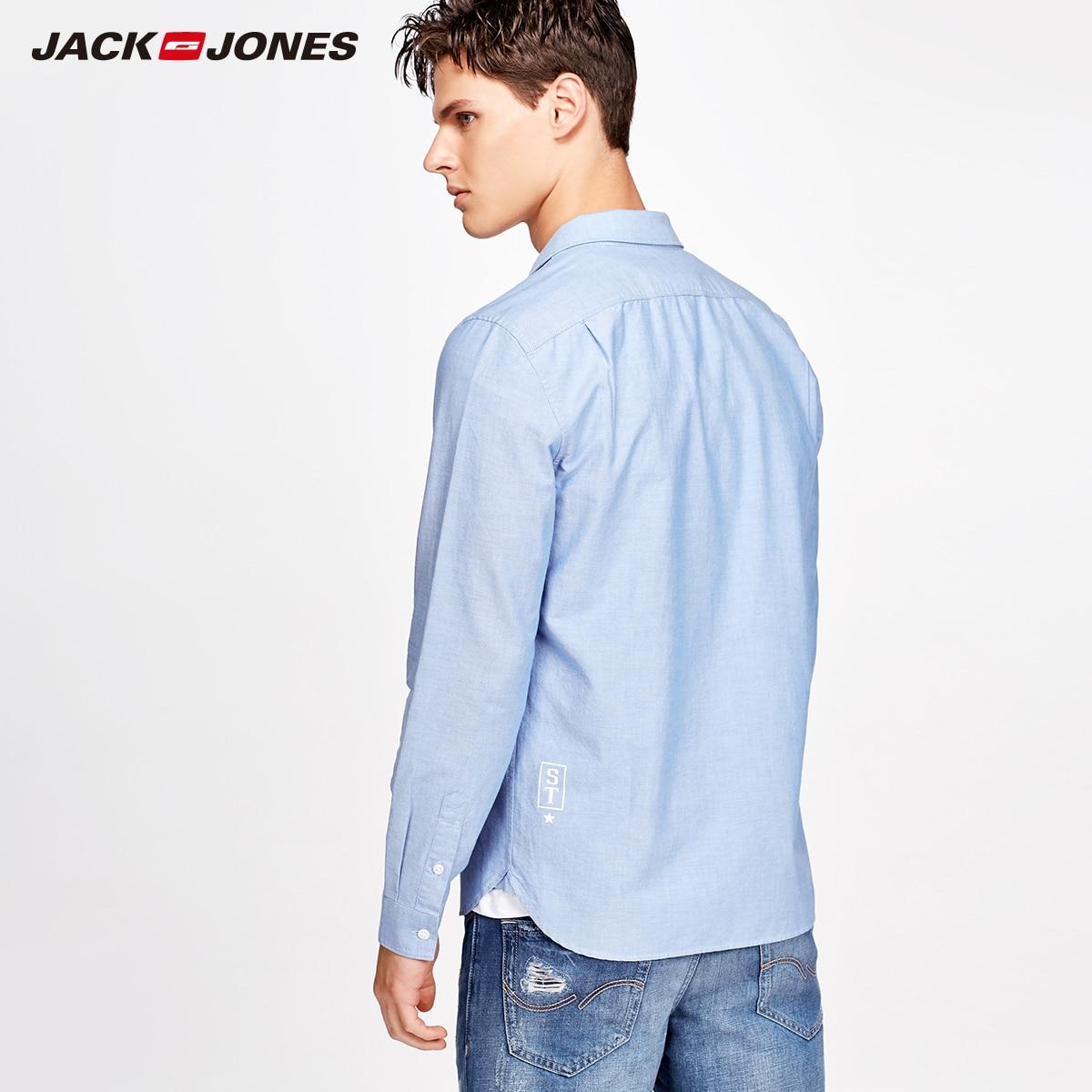 Jack Jones Men Cotton Long Sleeve Shirt M|217305518