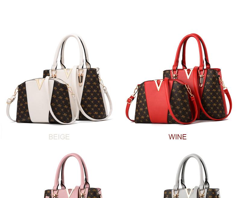 Women Bags Set 2 Pcs Leather Handbag Women Tote Bag Ladies Shoulder Bag for Women 2018 Messenger Bag Sac a Main 34