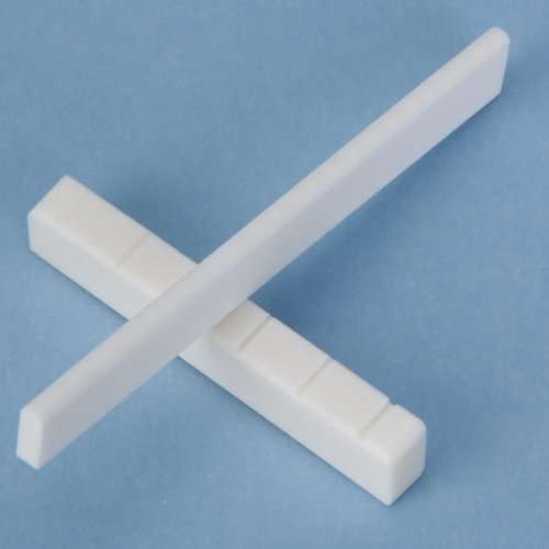 Classicsl Guitar Bone Slotted Saddle Nut Set A Replacement Bone Bridge Saddle And Nut For Guitar LP Folk Classical Elect