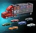 Contenedor de camión modelo de simulación de modelos de transporte de automóviles coche de aleación de juguetes de coches para niños