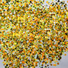 500Gram Lot Round Glitter Yellow Green White Black Shiny Metallic Nail Art Resin Slime Decoden Supplies