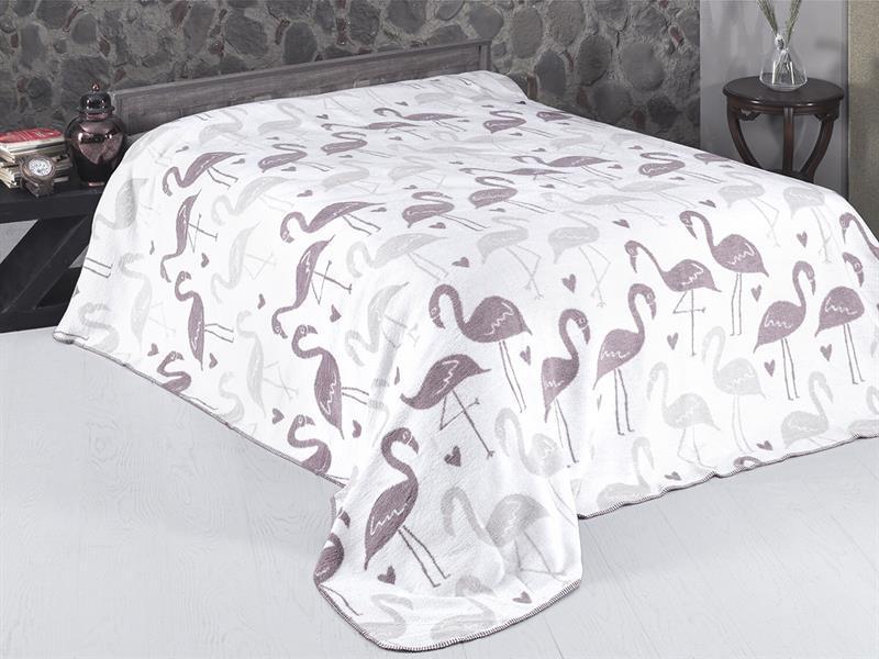 Плед полутораспальный KARNA, FLOMINGO, 130*170 см цена