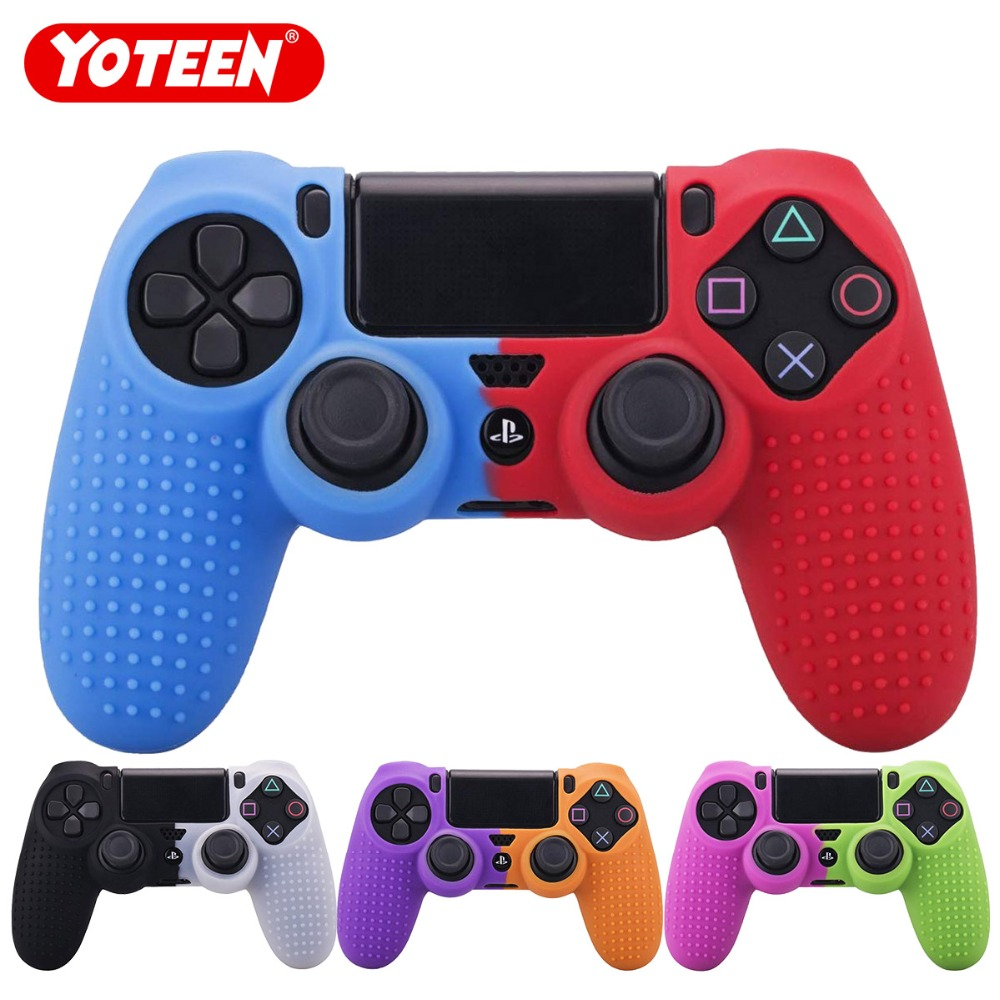 OSTENT Protective Silicone Gel Soft Case Cover Pouch Sleeve Compatible for Sony PS4 Controller Color Light Blue