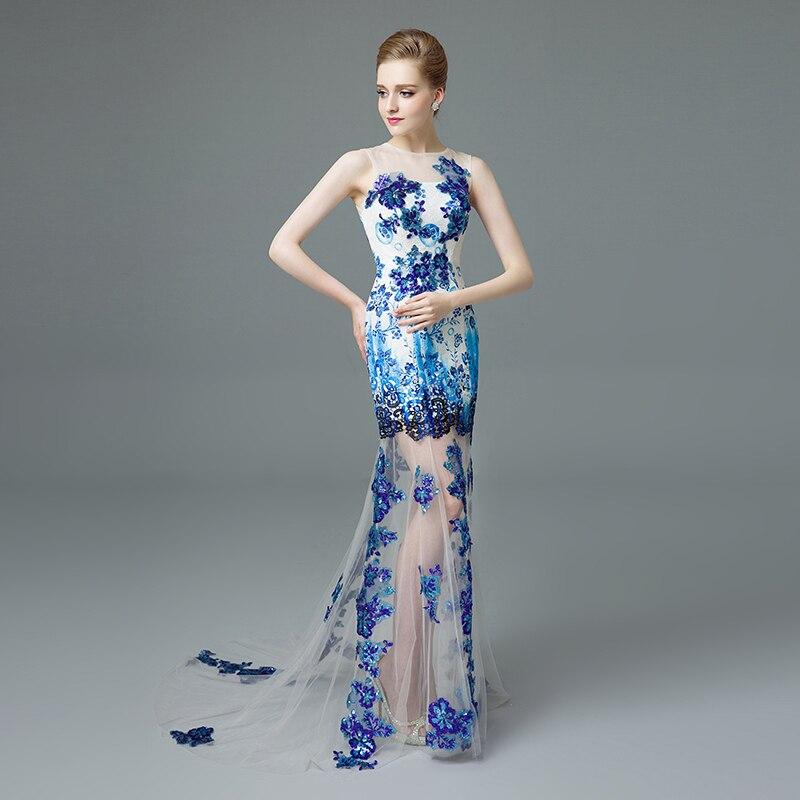 868ec8a60e Gorgeous Długie Mermaid Prom Dresses UK Sheer Neck Bez Rękawów z Cekinami  Tulle Suknie Wieczorowe z Dziurka Powrót Vestido De Formatura w Gorgeous  Długie ...