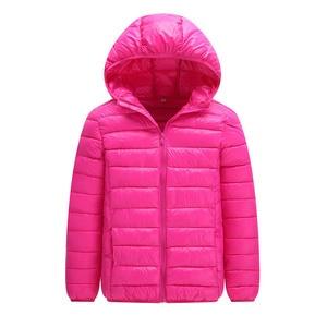 Image 5 - คุณภาพสูง 2020 ฤดูหนาวชายเสื้อลงเสื้อเด็ก Light Down Coat Hooded หญิงบาง WARM Outerwears 10 12 14 16 Y