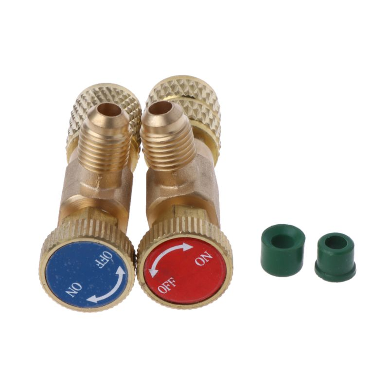 2Pcs Safety Valve R410A R22 Air Conditioning Quick Coupler Connector Adapters(China)