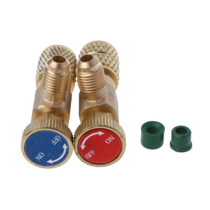 Ventil Sanitär 2 Pcs Sicherheit Ventil R410a R22 Klimaanlage Schnell Koppler Stecker Adapter Neue Sorten Werden Nacheinander Vorgestellt