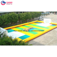 Commercial inflatable soccer stadium for beach playground large durable PVC material inflatablr soap football field for rental