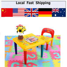 Hot Children Kids Learning Planner Table Activity Alphabet Children Learn Table and Chair Set Table Home Decorate(China)