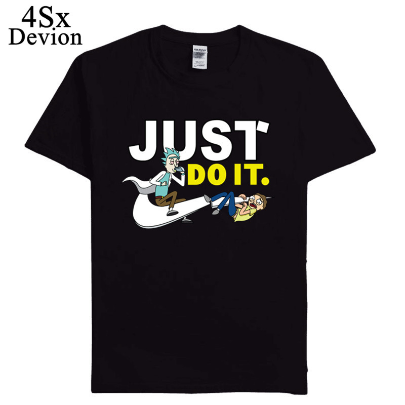 2018 New Fashion 3D cartoon T-shirt Brand Clothing Hip Hop Letter Print Men T Shirt Short Sleeve Anime High Quality Men clothing