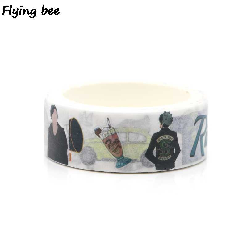 Flyingbee 15mmX5m Paper Washi Tape Riverdale Creative Adhesive Tape DIY Scrapbooking Sticker Label Masking Tape X0261