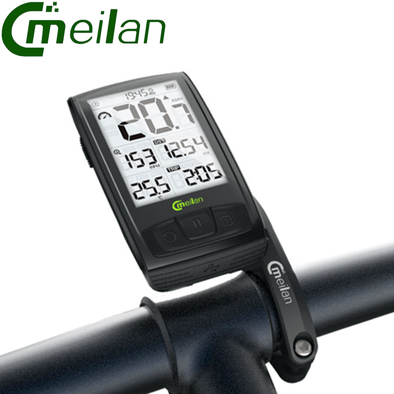 Meilan M4 BT4 0 Wireless Bike Computer Stopwatch Speedometer Outdoor Sports Speed Cadence Sensor Odometer USB