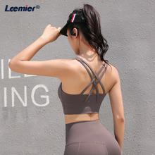 Yoga Bra Solid Gym Sports Clothing Cross Strapped Back Sexy  Athletic Underwear Quick Dry Tops Padded Push Up
