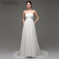 Đơn giản Giá Rẻ Wedding Dresses 2018 Bruidsjurken Strapless A Line Vestido De Novia Playa Handmade Bridal Gowns Mua Sắm Trực Tuyến Trung Quốc