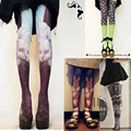 Harajuku Lolita Style Cawaii Velvet Tights Stockings Pantyhose Women Tattoo Tights Unique Novelty Cute Mori Girl Clothes3pcs/lot