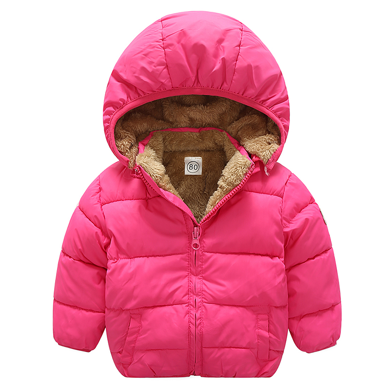 winter New style 1-4 years Boy Girls Coat Children Baby Jacket Warm lambswool Hooded Baby child children Clothing 2017 new authentic baby girl and boy sports style jacket children winter jacket style size 3 6 year old children s thin coat