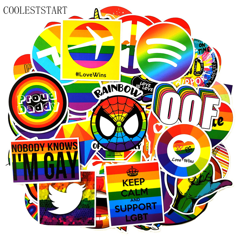 100 Pcs/set Tide Brand Rainbow Graffiti Stickers For Refrigerator Laptop Skateboard Motorcycle Luggage House Decoration Stickers
