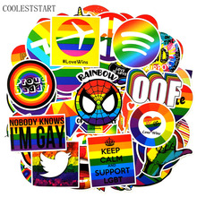 100 Pcs/set Tide Brand Rainbow Graffiti Stickers For Refrigerator Lapto