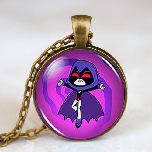 Teen Titans Go Raven Vintage Fashion Necklace 1pcs/lot brass silver Pendant steampunk Jewelry Gift women new chain toy mens 2017