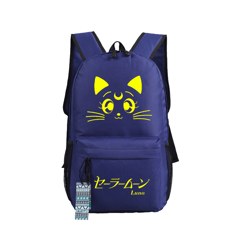 Luggage & Bags New Sailor Moon Luna Cosplay Backpack Anime Cute Cat Canvas Student Luminous Schoolbag Unisex Travel Bags