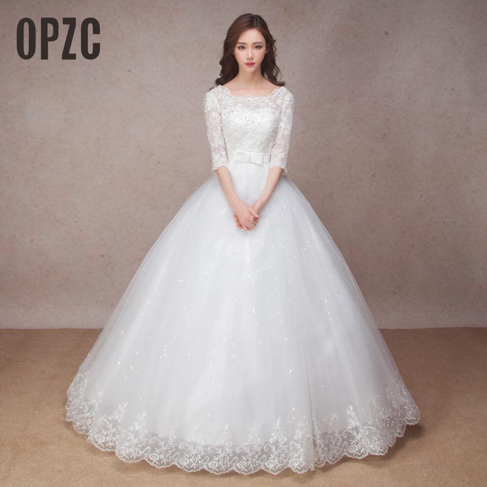 Free shipping custom made new 2017 hot sale korean style for Wedding dresses in sale