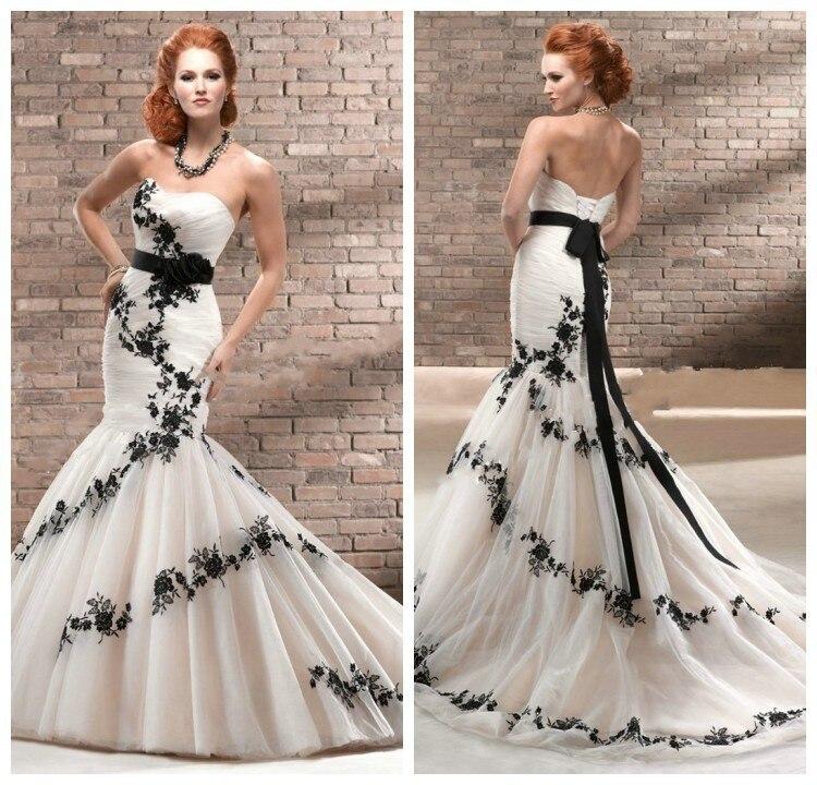 Black Wedding Gown Designers: 33Holiday Sale! New Fation Designer Beaded Organza Mermaid