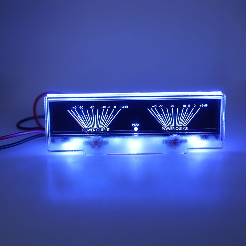 Medidor analógico duplo do db do nível de áudio do medidor do vu do painel do amplificador de potência com retroiluminado