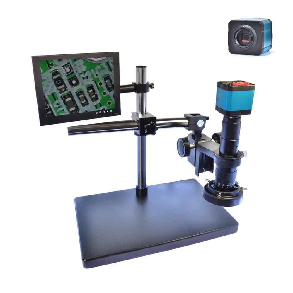 14MP HDMI USB Digital Industry Video Microscope Camera Set Big Stand Universal bracket 180X C MOUNT