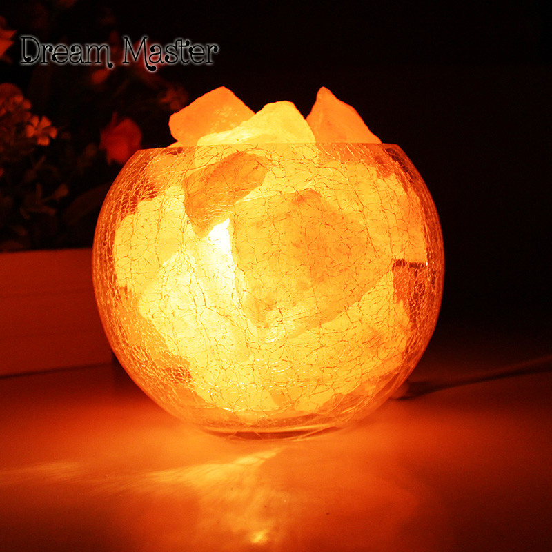 Crystal salt lamp Himalaya European style decorative small table lamp creative fashion bedroom warm wedding bedside lamp