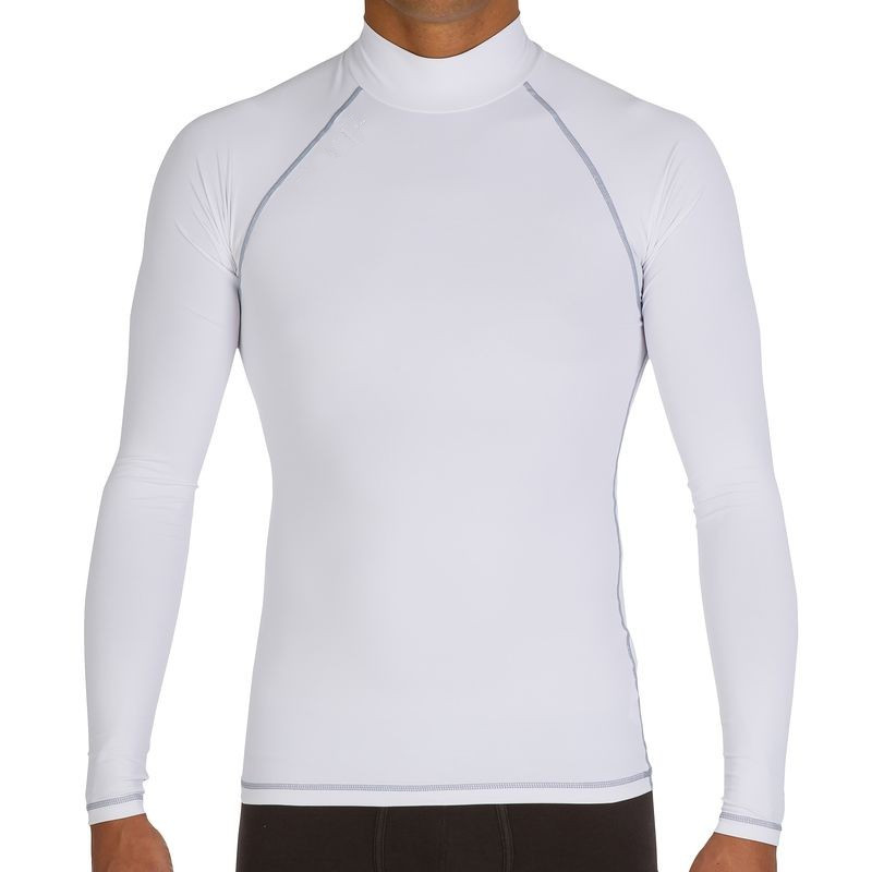 Rash guard sun protection diving long sleeve swimsuit high for Sunscreen shirts for adults