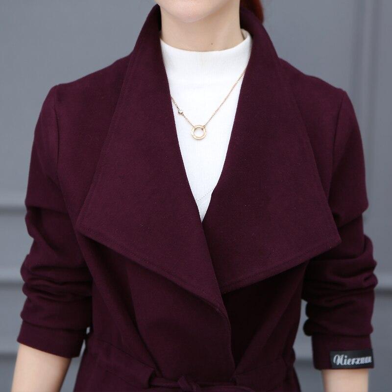 2 À Qui 2018 Tranchée Exposition Taille Long Le Son 1 Mince Manteau 3 Couleur Nouveau Moralité Cultivent D'hiver Pur De Mode rH4IH
