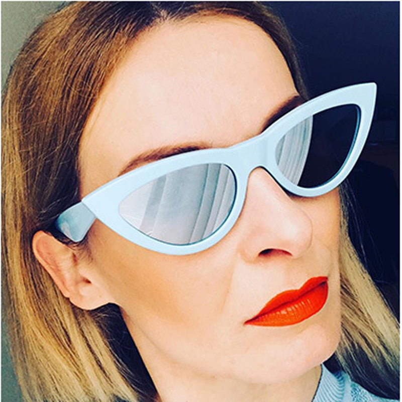 FEISHINI Hot Beautiful Elegant Gradient Vintage Small Cat Eye Sunglasses Women Brand Star Fashion Sexy Red Glasses Female 2018 ...
