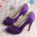 Wedopus MW883 New Model Purple Satin Women Evening Party High Heel Fashion Shoes
