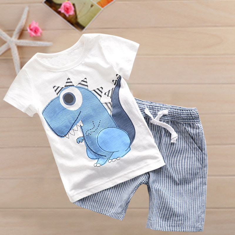 QISEN Hot Sale Brand Boys Clothing Children Summer Boys Clothes Cartoon Kids Boy Clothing Set T-shit+Pants Cotton on sale boys clothing set kids sport cartoon cotton clothes suit boys clothes sweater pants 2pcs clothing set kids set